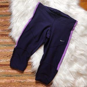 Nike Drifit Leggings XS Purple w/ Pockets